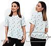 Молодежная блузка больших размеров 52-56 (в расцветках), фото 3