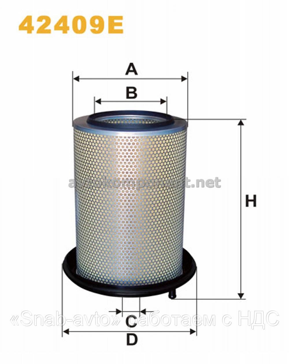 Фильтр воздушный 42409E/AM449 (производство WIX-Filtron) (арт. 42409E), AFHZX