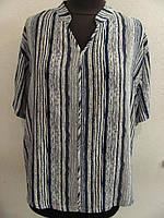 Блуза штапельная, прямого кроя ,ботал, (р-р.54)  Код 1253М