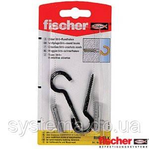 Fischer RHR 63 K - Дюбель SX 6 с круглым крюком черным, фото 2