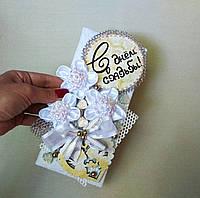 Милая свадебная открытка ручной работы с ангелочками