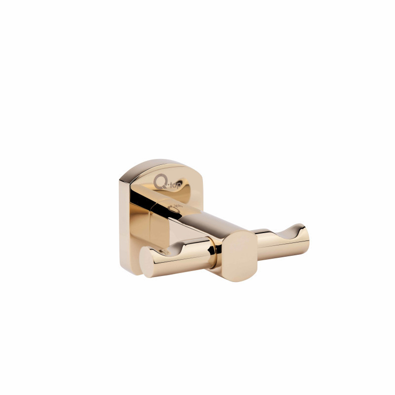 Крючок двойной в золоте настенный 1154