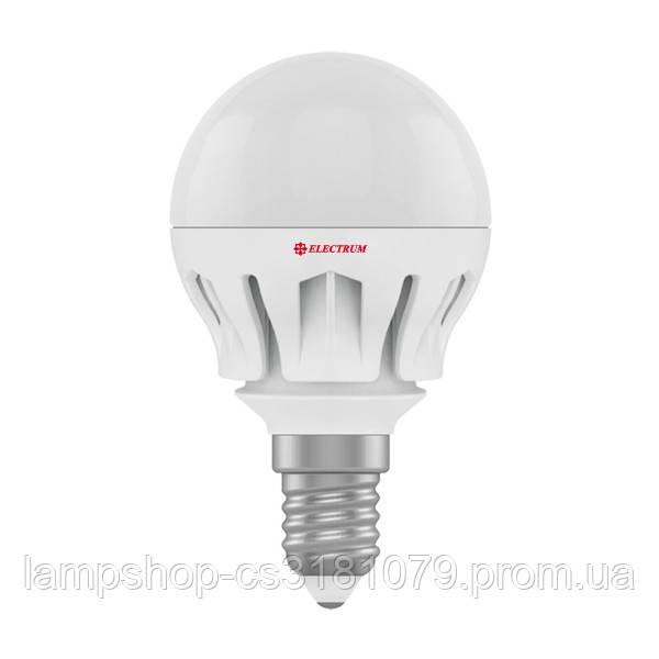 Лампа светодиодная шар LB-14 7W E14 4000K алюм. корп. A-LB-0490