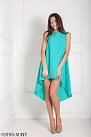 Легкое асимметричное платье  свободного кроя Feder XXL, Mint