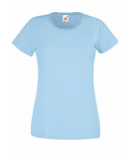 Женская футболка  ValueWeight XS, Небесно-Голубой
