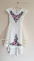 """Сукня сарафан біла вишита """"Квітковий орнамент"""" , фото 1"""