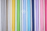 """Лоскут ткани """"Пунктирный горошек"""" белый на голубом №1928а, размер 38*78см, фото 5"""