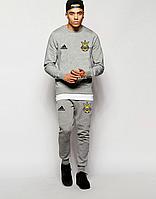 Мужской спортивный костюм Сборной Украины, Адидас, Adidas, серый