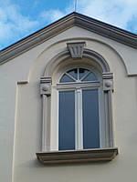 Фасадное обрамление окон и дверей натуральным камнем