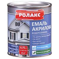 Эмаль акриловая 0,75л Премиум белая Ролакс