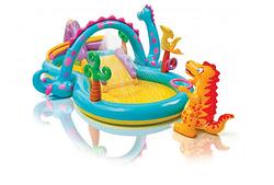 Надувной водный игровой центр.Детский надувной игровой центр с горкой.