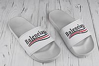 Шльопанці чоловічі пляжні Balenciaga white (репліка), фото 1