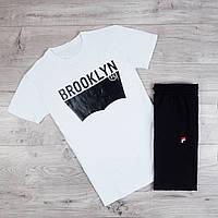 Футболка мужская Levis Brooklyn молодежная из качественного хлопка  белая, ТОП-реплика