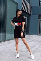 Женское платье поло, черное, фото 1