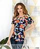 Цветочная блузка яркая 42-50 (в расцветках), фото 2