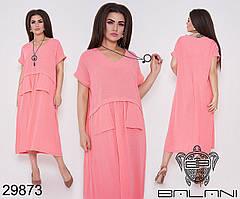Платье женское летнее лен, размер:50-52, 54-56, фото 2