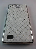 Чехол Diamond накладка для Lenovo A656 A766 белый