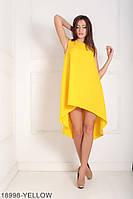 Легкое асимметричное платье  свободного кроя Feder XXL, Yellow