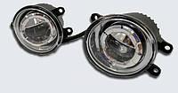 Противотуманные светодиодные фары 100 мм с косым углом LED 12V c линзой