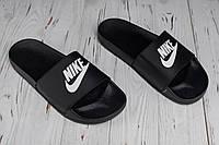 Мужские шлепки открытые Nike black (реплика), фото 1