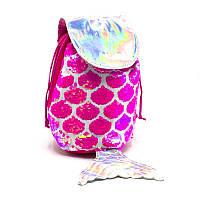 Рюкзак детский с пайетками  pink fish