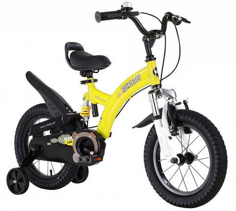 """Велосипед детский RoyalBaby FLYBEAR 14"""", OFFICIAL UA, желтый, фото 2"""