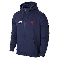 Мужская спортивная толстовка (кофта) Ливерпуль-Нью-беланс, Liverpool, New-balance, синяя