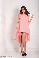 Легкое асимметричное платье  свободного кроя Feder S, Rose
