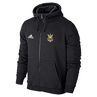 Мужская спортивная толстовка (кофта) Сборной Украины-Адидас, Adidas, черная