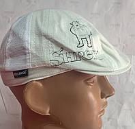 Детская летняя кепка восьмиклинка из льна сетка бежевый 6109Д/5/65 Shrek, Эллипс