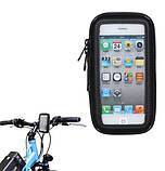 """Власник смартфона 4"""" на кермо велосипеда велохолдер з вологозахистом SKU0000165, фото 5"""