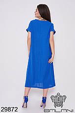 Платье женское летнее лен, размер:50-52, 54-56, фото 3