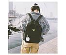 Рюкзак для девочки подростка черный с помпоном в стиле Канкен, фото 2
