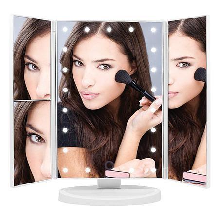 Зеркало для макияжа тройное с подсветкой Magic Make Up Mirror