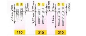 УНИМЕТРИК (UNIMETRIC) 310 S (ЧЕРНЫЕ, 1мм) (25 шт.)