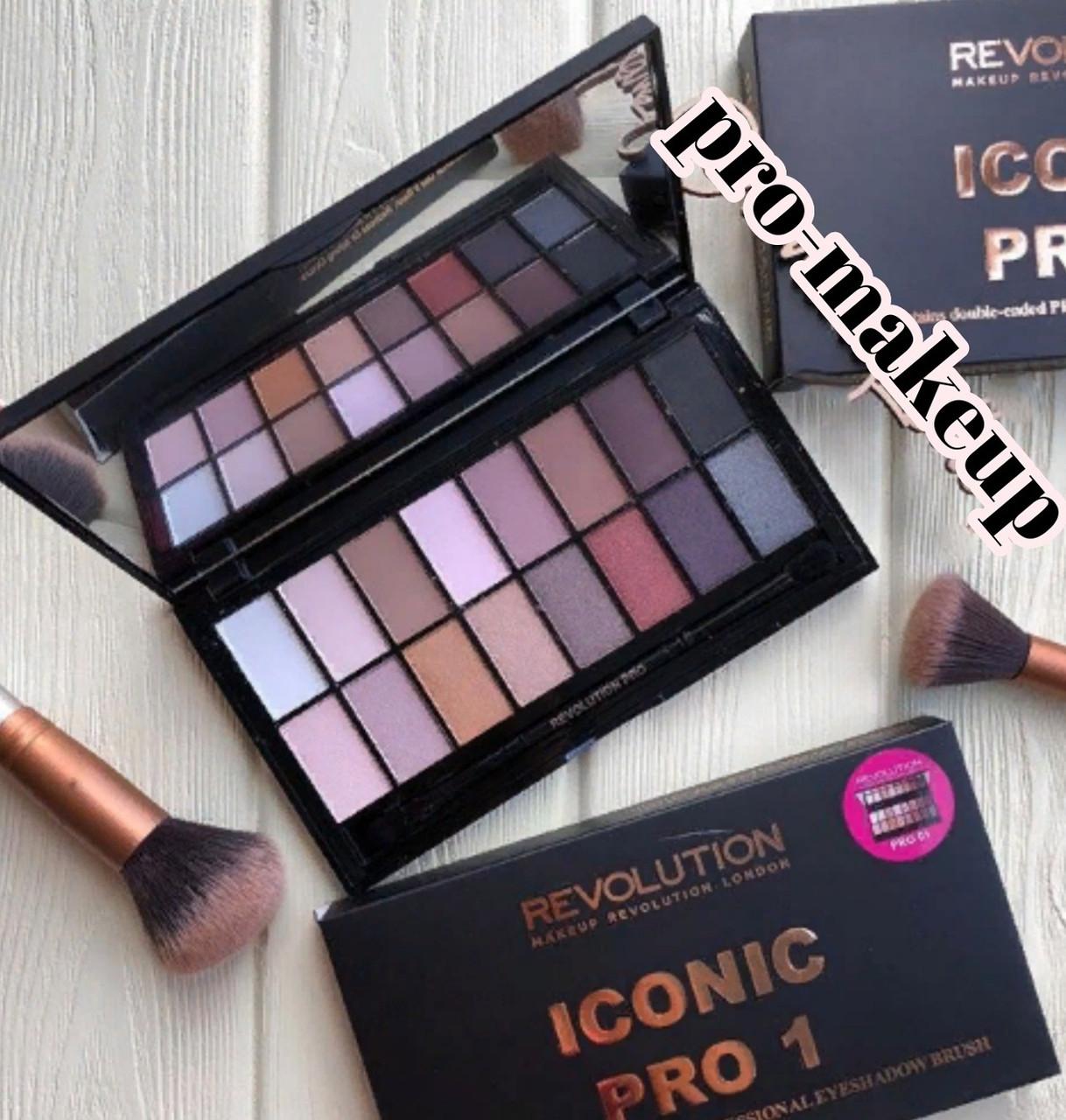 Тени для век Revolution Makeup Iconic PRO 1 (16 цветов)