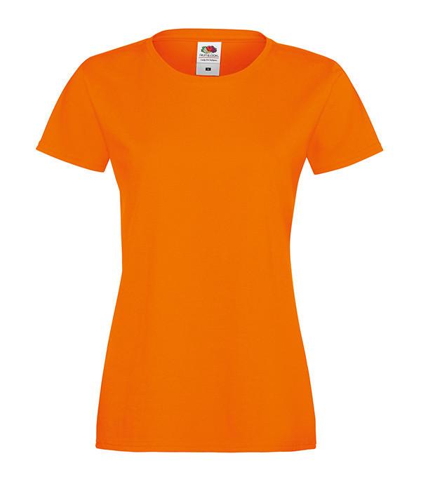 """Женская футболка """"Хлопок"""" S, Оранжевый"""