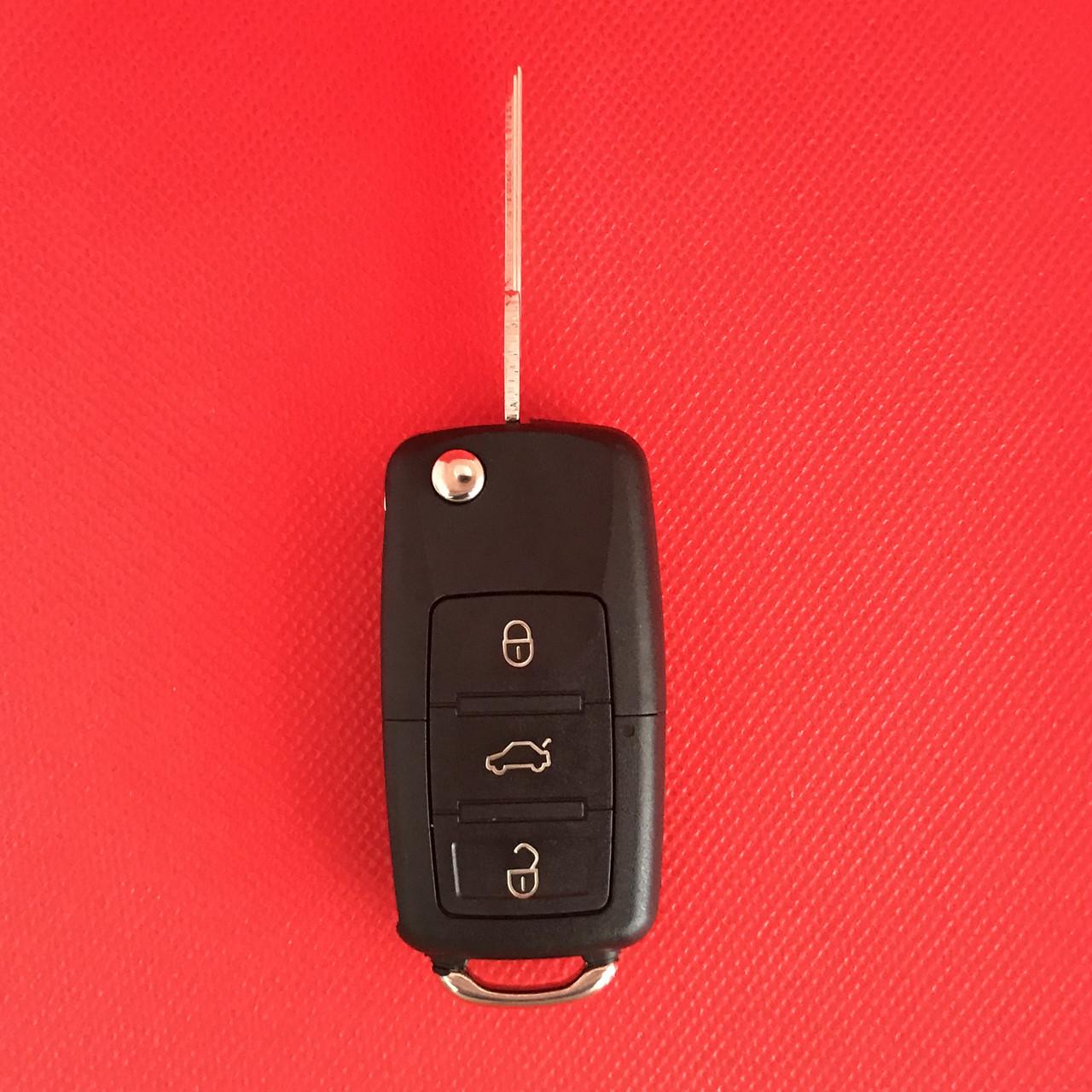 Корпус выкидного авто ключа для VOLKSWAGEN Passat, Jetta, Golf лезвие HU 49 (Фольксваген) 3 кнопки