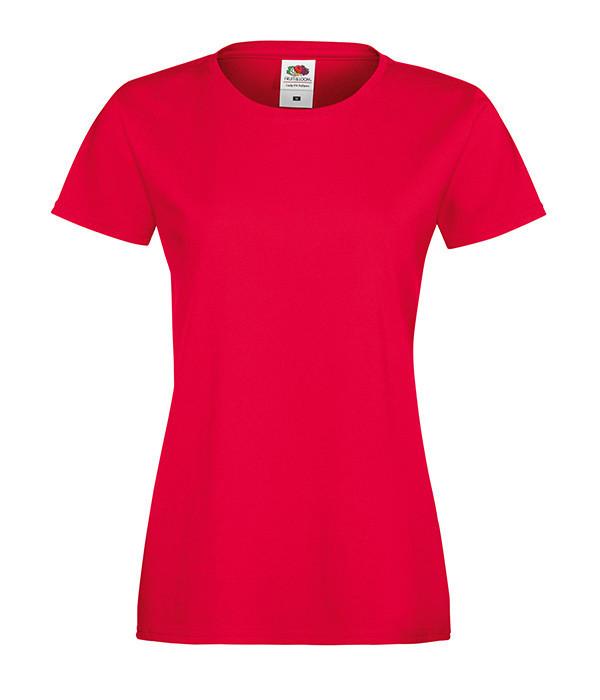 """Женская футболка """"Хлопок"""" XL, Красный"""