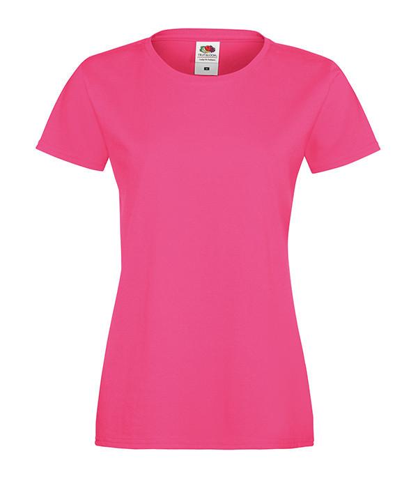 """Женская футболка """"Хлопок"""" XL, Малиновый"""