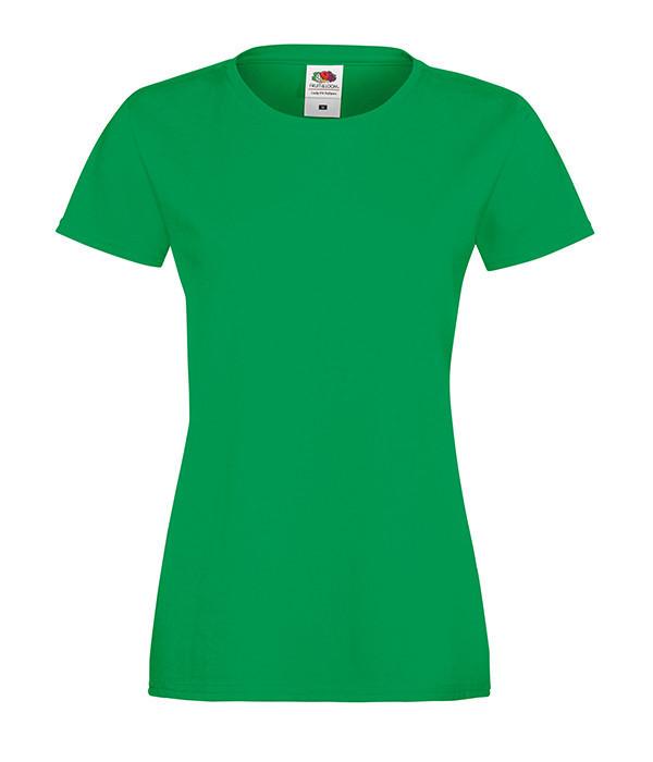 """Женская футболка """"Хлопок"""" 2XL, Ярко-Зеленый"""