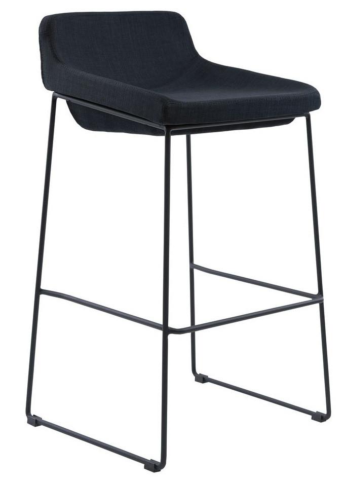 Полубарный стул Comfy черный TM Concepto