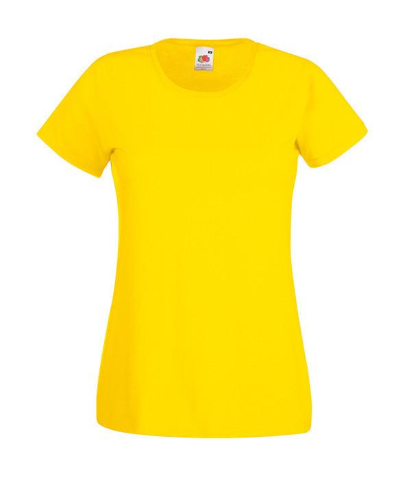 """Женская футболка """"Хлопок"""" L, Желтый"""