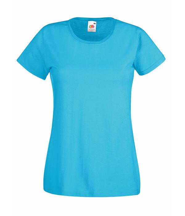 """Женская футболка """"Хлопок"""" L, Ультрамарин"""