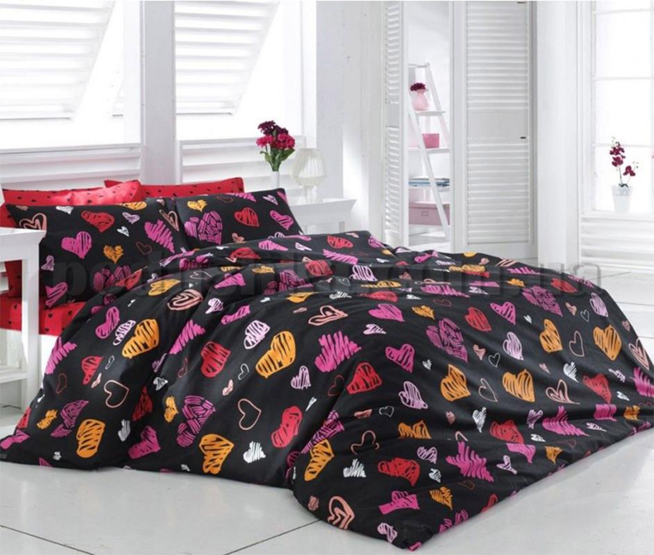 Постельное белье двуспальное на резинке 180*220 хлопок (12050) TM KRISPOL Украина