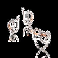 Серебряный комплект с золотом Юрьев арт.286 18