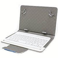 "☜Чехол Lesko 7"" + kayboard WL White беспроводная мини bluetooth клавиатура для планшета"