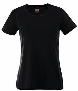 Женская спортивная футболка XS, Черный