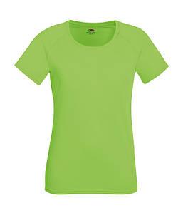 Женская спортивная футболка XS, Лайм