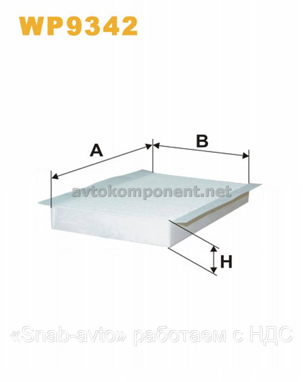 Фильтр салона WP9342/K1296 (производство WIX-Filtron) (арт. WP9342), ABHZX